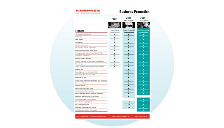 Business Promotion Comparison