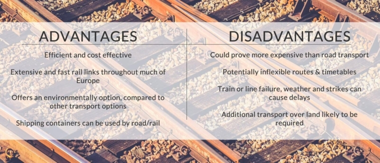 The advantages and disadvantages of rail freight