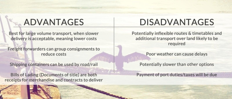 The advantages and disadvantages of sea freight